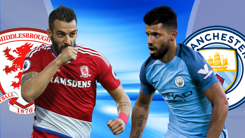 Middlebrough vs Man City 19h15 ngay 11032017