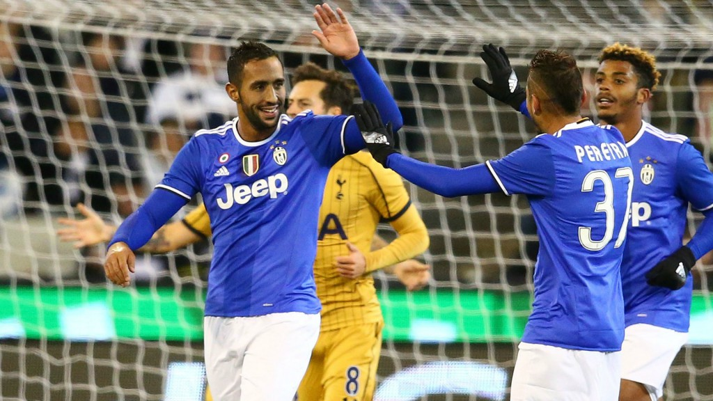 during the 2016 International Champions Cup match between Juventus FC and Tottenham Hotspur at Melbourne Cricket Ground on July 26, 2016 in Melbourne, Australia.