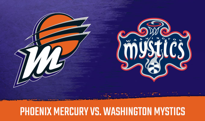 Phoenix Mercury Nữ vs Washington Mystics Nữ